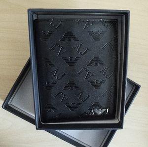 AJ Embossed Logo PU Bifold Wallet